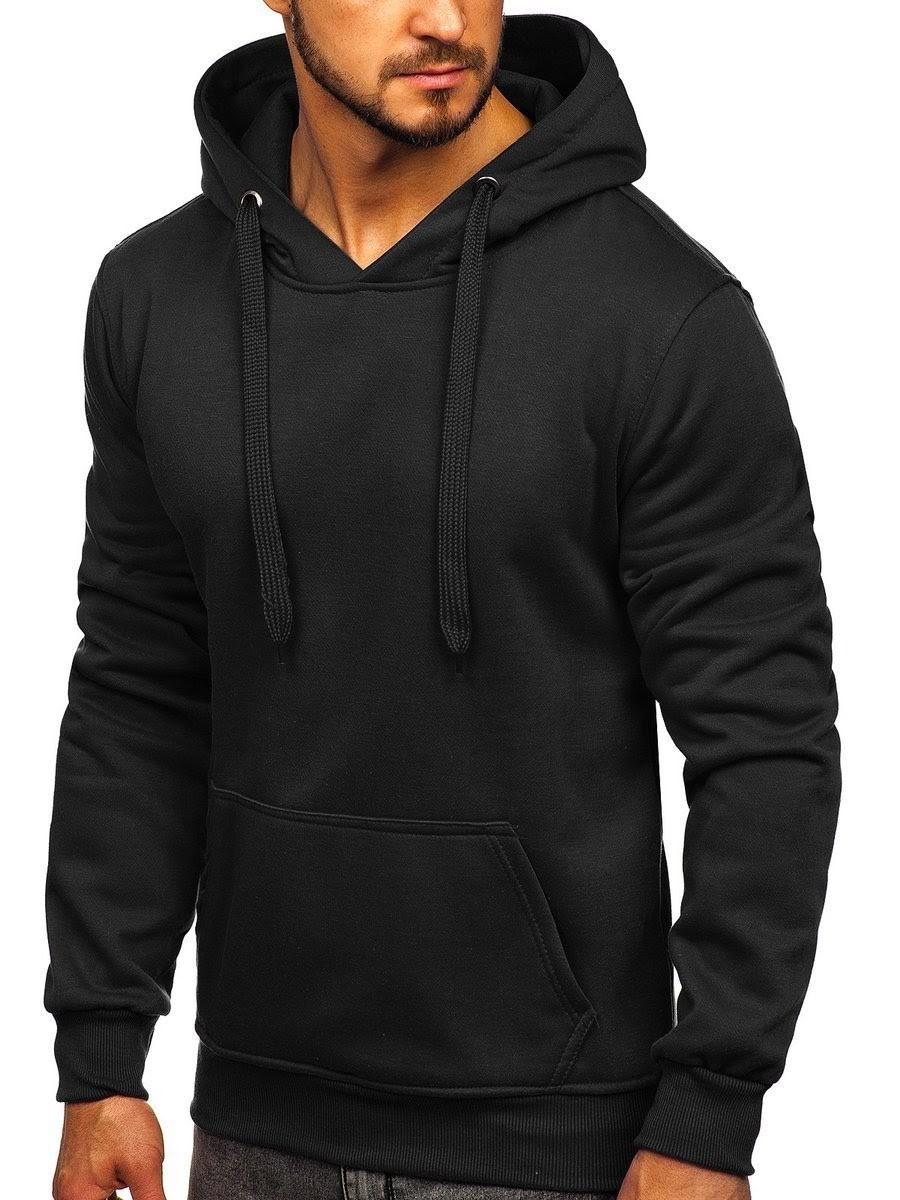 czarna męska bluza